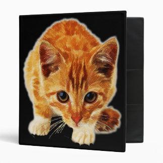Stalking Kitten Staring at You 3 Ring Binder