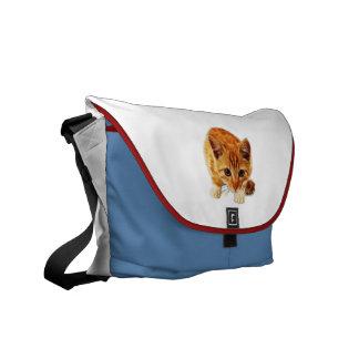 Stalking Kitten Staring at You Commuter Bag