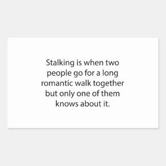Stalking Romantic Walk Rectangular Sticker