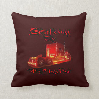Stalking the Night Throw Pillow