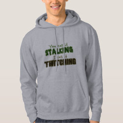 Stalking vs Twitching Men's Basic Hooded Sweatshirt