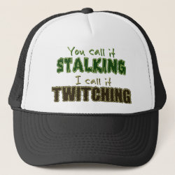 Trucker Hat with Stalking vs Twitching design