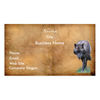 STALKING WOLF Business Card or Profile Card
