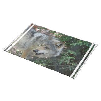 Stalking Wolf Placemat Cloth Placemat