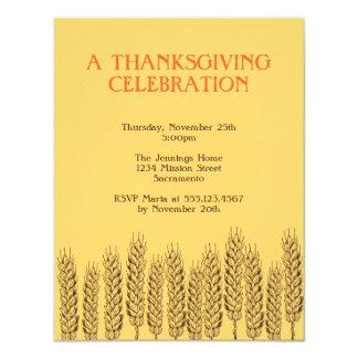 Stalks of wheats natural yellow field Thanksgiving Invitations