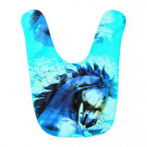 stallion blue boy bib