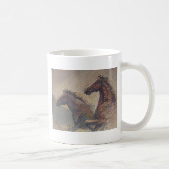 Stallion Duo in Pastels Coffee Mug