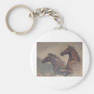 Stallion Duo in Pastels Keychain