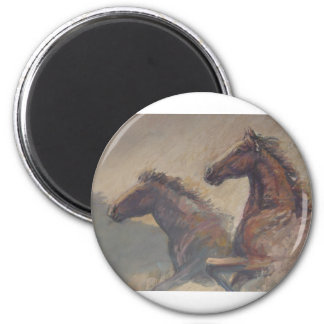 Stallion Duo in Pastels Magnet