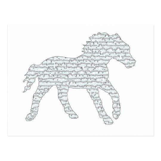 Stallion Eyes Postcard