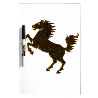 stallion horse on his hind legs design wildlife dry erase board