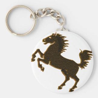 stallion horse on his hind legs design wildlife keychain