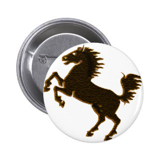 stallion horse on his hind legs design wildlife pinback button