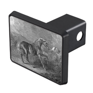 Stallion Horse Vintage Illustration Tow Hitch Cover