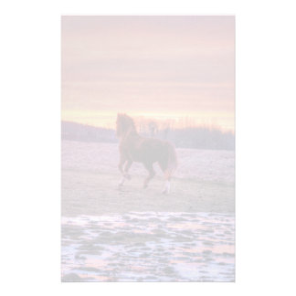 Stallion Running Home at Sunset on Ranch Stationery