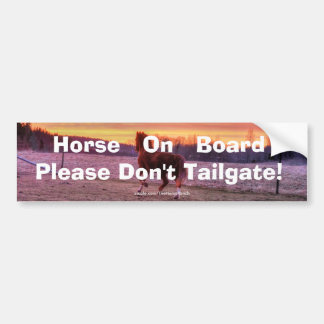 Stallion Running Home at Sunset Tailgating Theme Bumper Sticker
