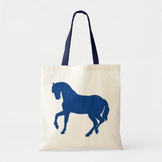 stallion sillouette-blue tote bag