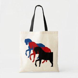 stallion sillouettes, tote bag