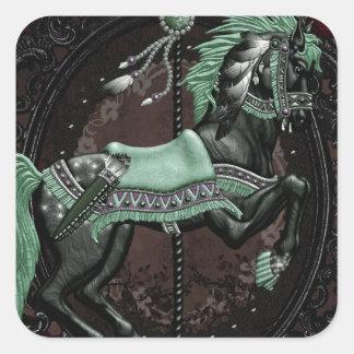 Stallion Square Sticker