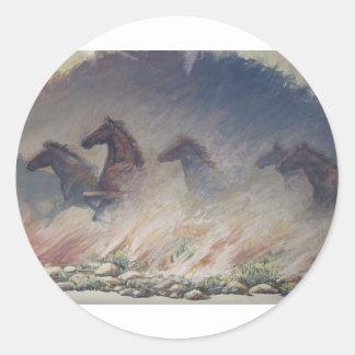 Stallion Stampede Classic Round Sticker