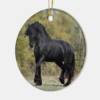 Stallion Strut Ceramic Ornament