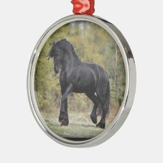 Stallion Strut Metal Ornament