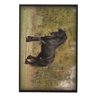 Stallion Strut Wood Wall Art