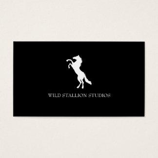 Stallion (white) business card