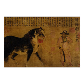 Stallion with Groom Print