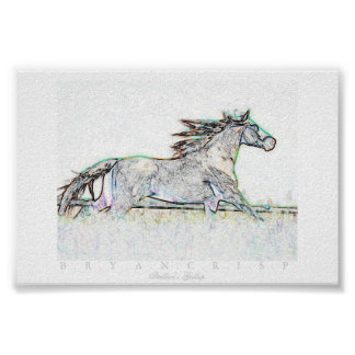 Stallion's Gallop Enhanced Digital Horse Print