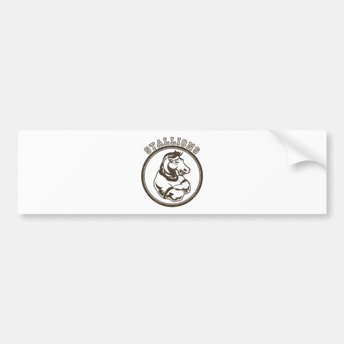 Stallions Mascot Bumper Sticker