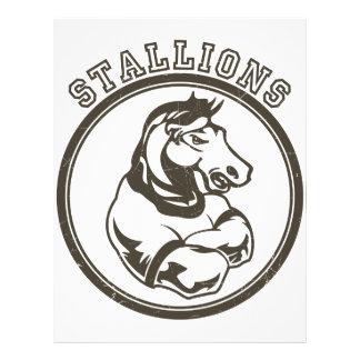 Stallions Mascot Custom Flyer