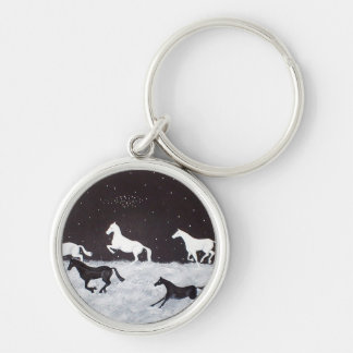 Stallions Of The Night Keychain