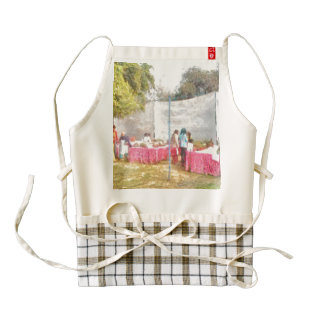 Stalls at an exhibition zazzle HEART apron