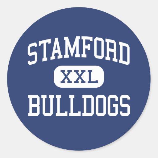 Stamford - Bulldogs - HIgh School - Stamford Texas Round Sticker