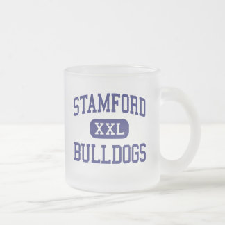 Stamford Bulldogs Middle Stamford Texas 10 Oz Frosted Glass Coffee Mug