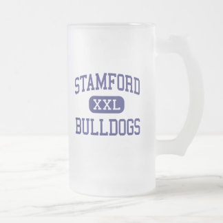 Stamford Bulldogs Middle Stamford Texas 16 Oz Frosted Glass Beer Mug