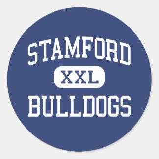 Stamford Bulldogs Middle Stamford Texas Classic Round Sticker
