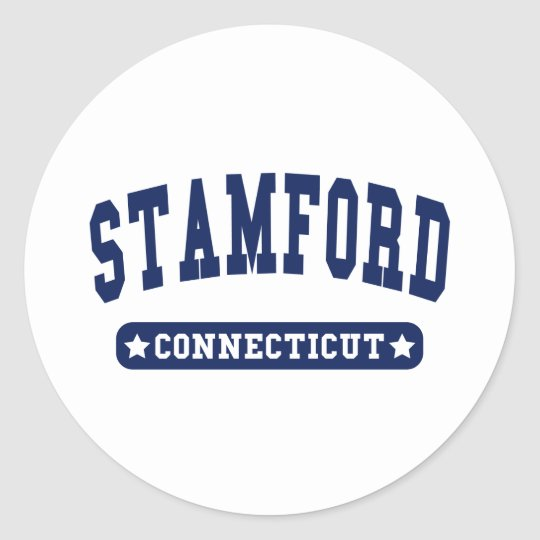 Stamford Connecticut College Style tee shirts Classic Round Sticker