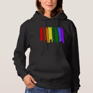 Stamford Connecticut Gay Pride Rainbow Skyline Hoodie