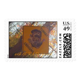 Stamford CT  Thanksgiving Turkey $B.A.K.$ Original Postage Stamp