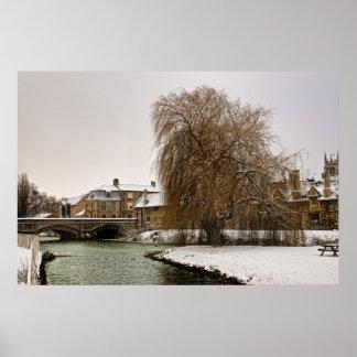 Stamford en invierno póster