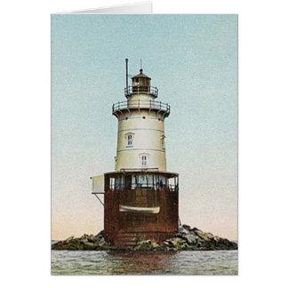Stamford Harbor Ledge Lighthouse Card