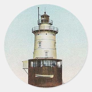 Stamford Harbor Ledge Lighthouse Classic Round Sticker