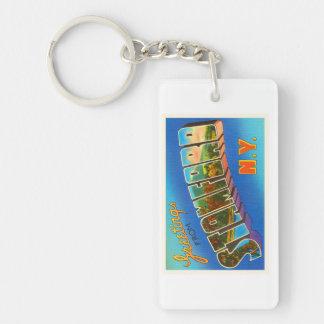 Stamford New York NY Old Vintage Travel Souvenir Keychain