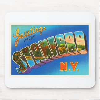 Stamford New York NY Old Vintage Travel Souvenir Mouse Pad