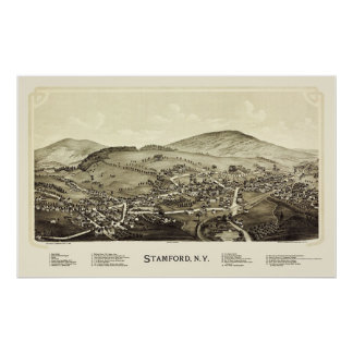 Stamford, NY Panoramic Map - 1890 Poster