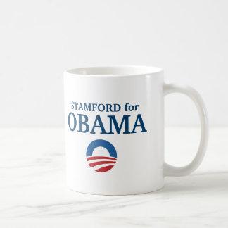 STAMFORD para el personalizado de Obama su ciudad Taza