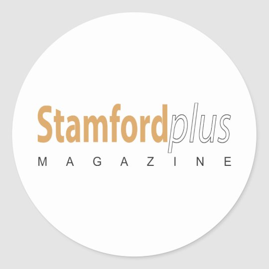 Stamford Plus magazine Classic Round Sticker