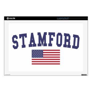 Stamford US Flag Laptop Decal